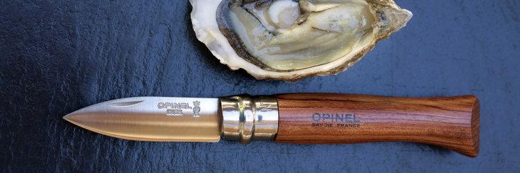 Нож Opinel №9, для устриц, нержавеющая сталь, рукоять из дерева бука