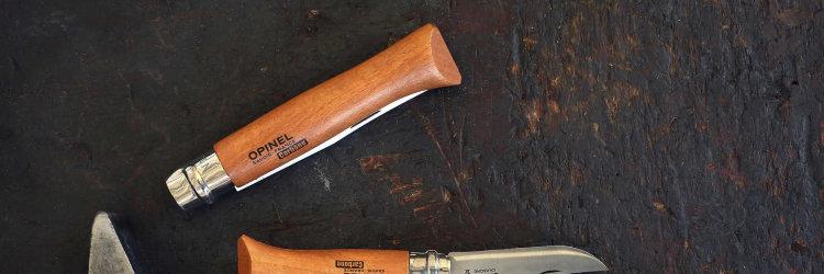Нож Opinel №9, углеродистая сталь, рукоять из дерева бука