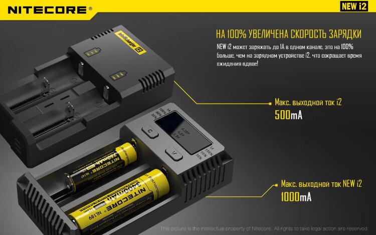 Зарядное устройство Nitecore I2 New (без автоадаптера)