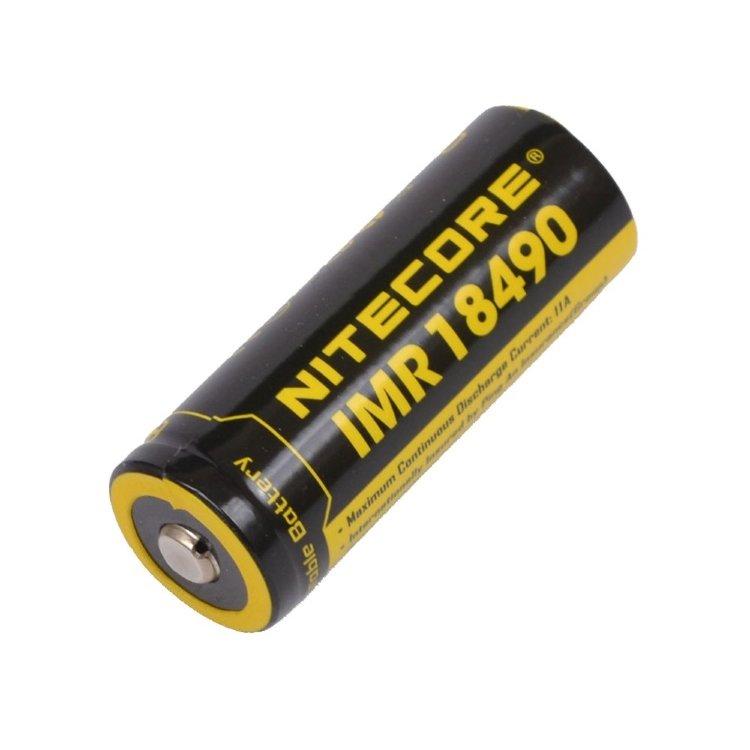 Аккумулятор Nitecore IMR 18490 3.7v 1100mAh, без защиты