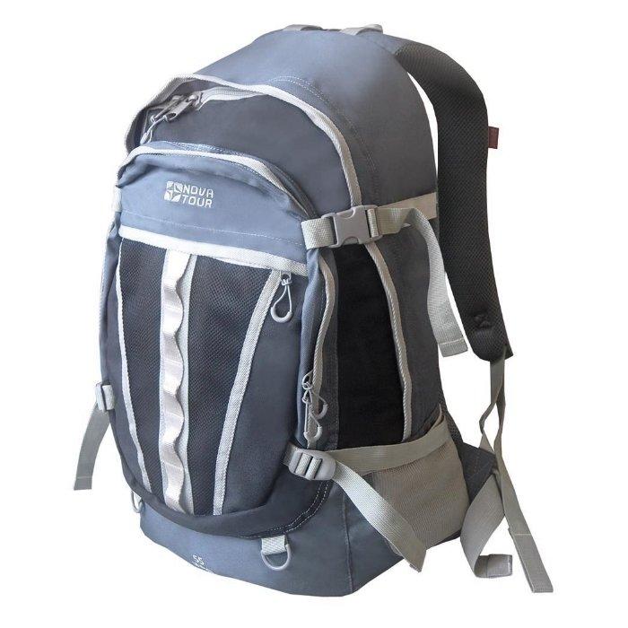 Рюкзак Nova Tour Слалом 55 V2 серый/синий (95138-458-00)