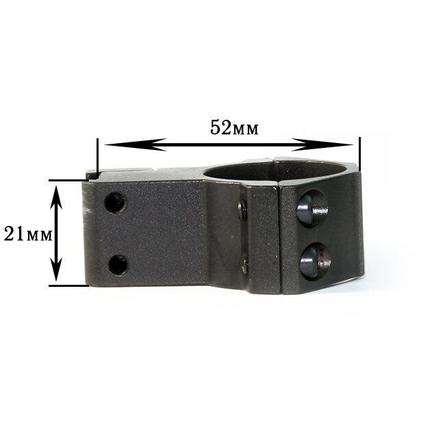 Крепление на оружие для фонаря 25mm Ring Double (Байонет 9 мм)