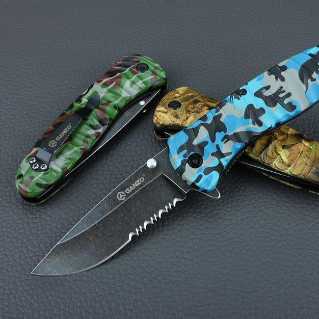 Нож Ganzo G622-CA3-4S, коричневый