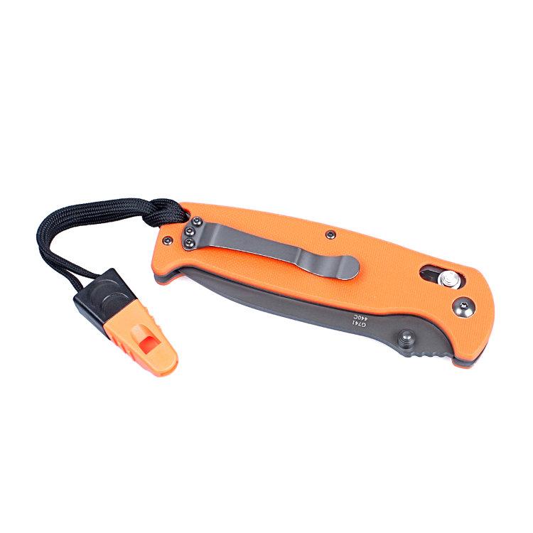 Нож Ganzo G7413-WS (оранжевый, черный, зеленый)