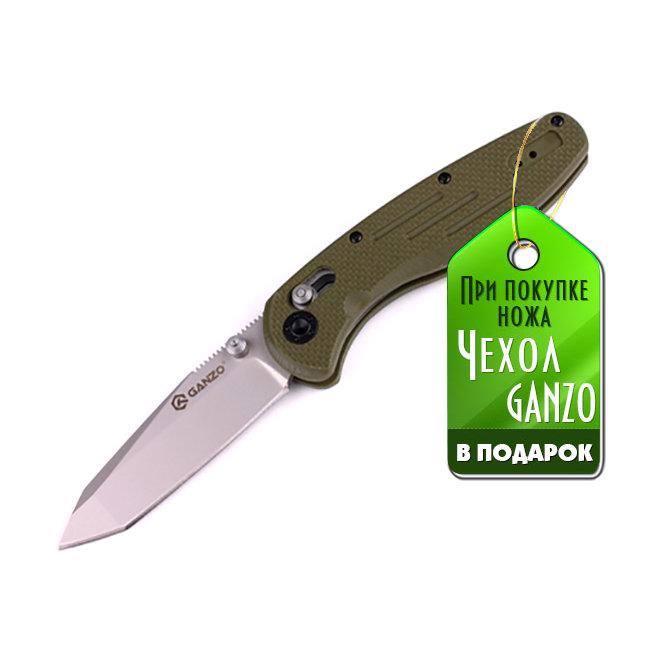 Нож Ganzo G701 зеленый G10