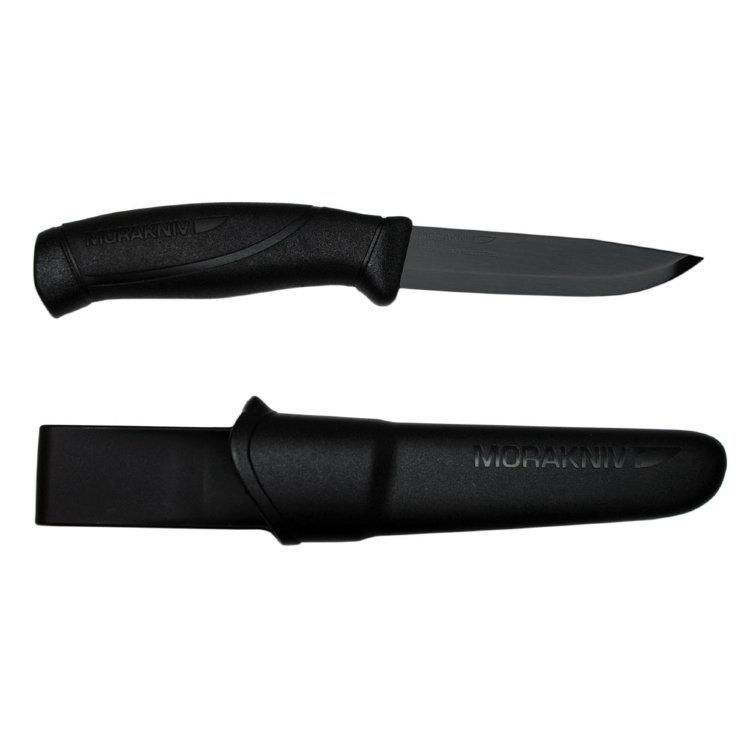 Нож Morakniv Companion BlackBlade, нержавеющая сталь, черный клинок, 12553