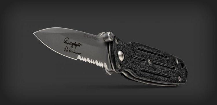 Складной нож Gerber Mini Covert, серрейторное лезвие, блистер, 46924