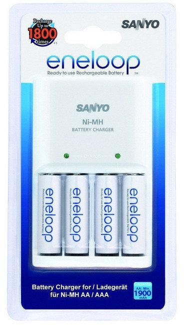 Зарядное устройство Panasonic eneloop Advanced Charger BQ CC17 + 4 аккум. 1900 mAh