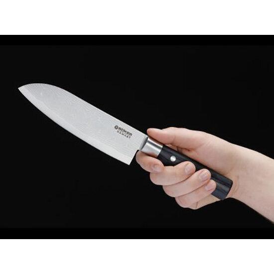 Нож Boker Damast Black Santoku, BK130417DAM