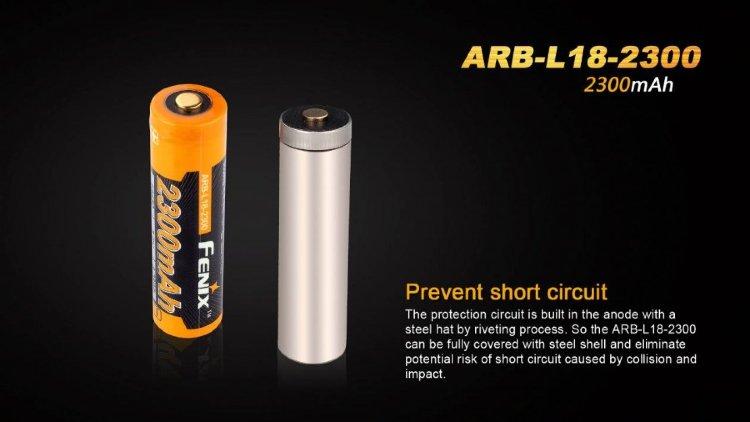Аккумулятор 18650 Fenix ARB-L2-2300 (2300mAh)