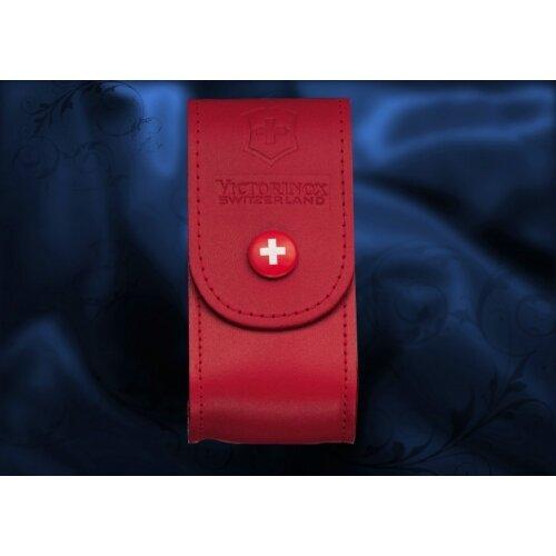 Чехол кожаный Victorinox красный 4.0521.1
