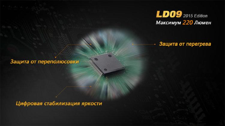 Фонарь Fenix LD09 Cree XP-E2 (R3) LED (2015)