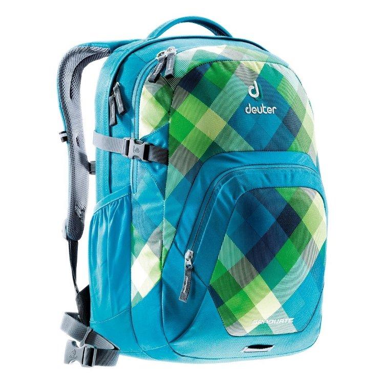 Рюкзак Deuter Graduate (черный, сине-зеленая, серо-синяя клетка)