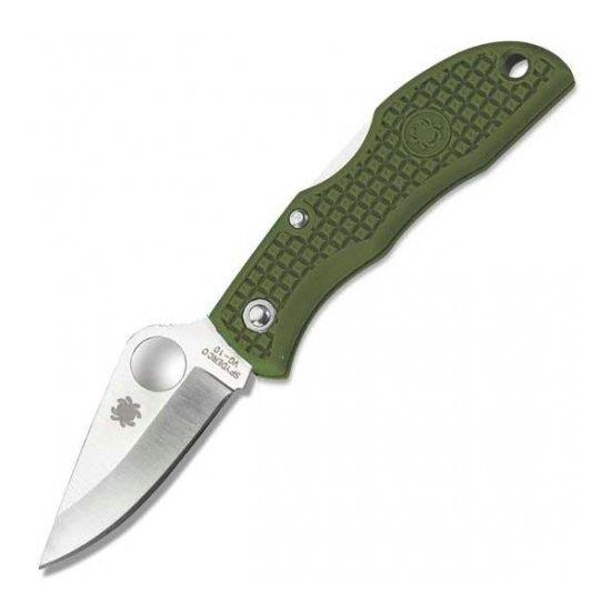 Складной нож Spyderco Ladybug 3 (черный, зеленый)
