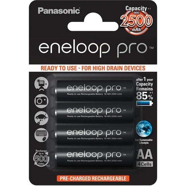 Аккумулятор Panasonic eneloop pro 2500mAh BK-3HCDE/4BE AA BL4