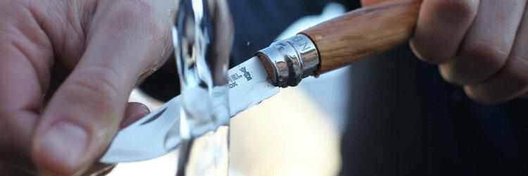 Нож Opinel №6, нержавеющая сталь, рукоять из оливкового дерева