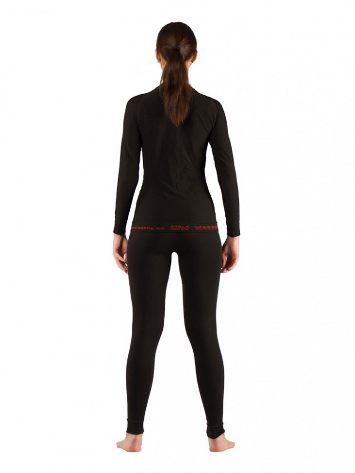 Комплект женского термобелья Lasting, черный - футболка Atala и штаны Aura