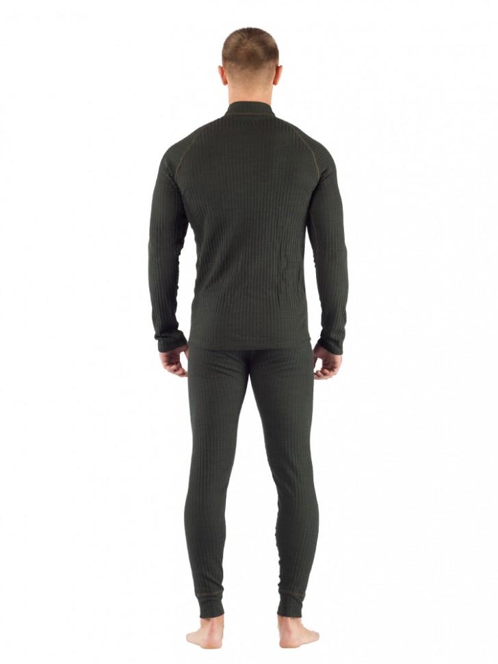 Комплект мужского термобелья Lasting, зеленый - футболка SWU и штаны JWP