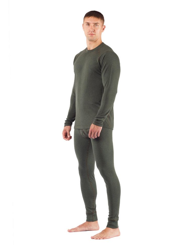 Комплект мужского термобелья Lasting, зеленый - футболка Rosta и штаны Rex