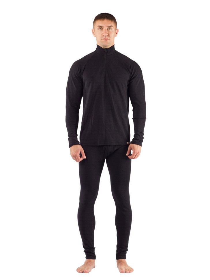 Комплект мужского термобелья Lasting, черный - футболка WIRY и штаны WICY