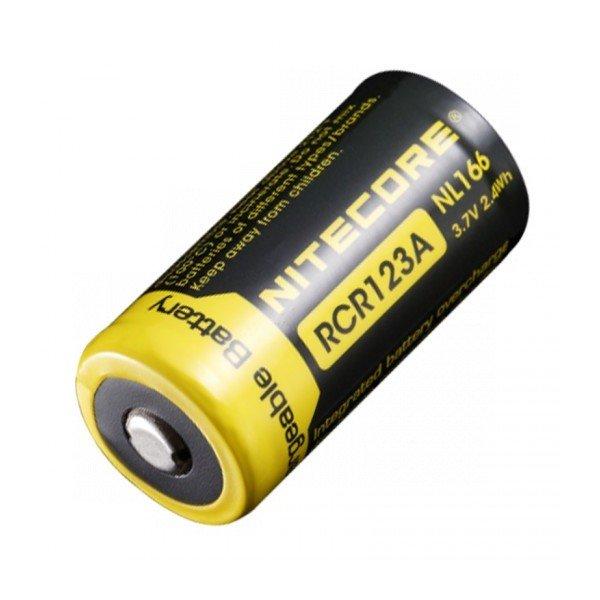 Аккумулятор Nitecore NL166 RCR123/16340 Li-ion 3.7v (650mAh)