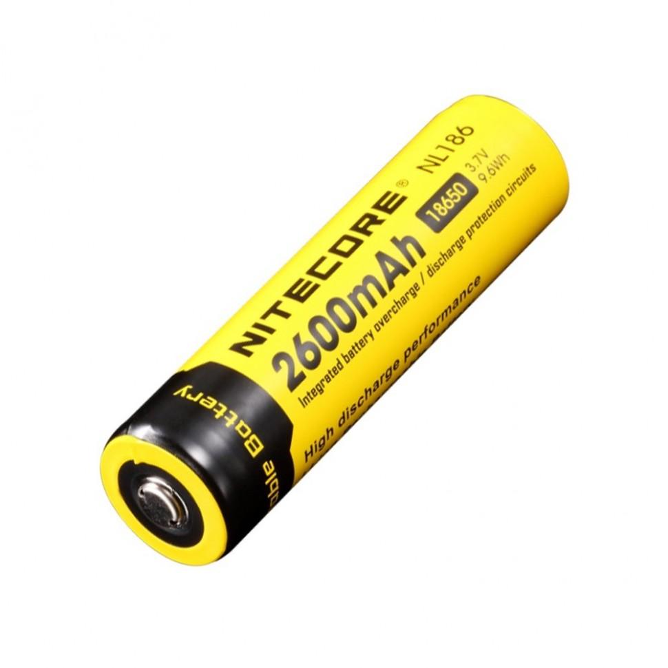 Аккумулятор Nitecore NL186 18650 Li-ion 3.7v 2600mAh
