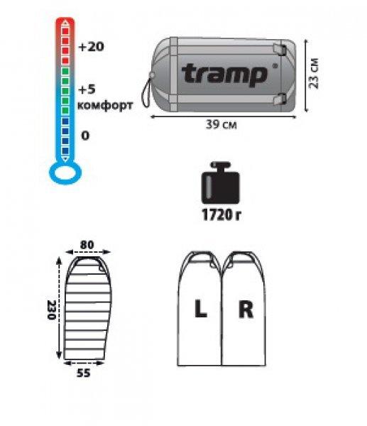 Спальный мешок Tramp Siberia 3000, TRS-007.06