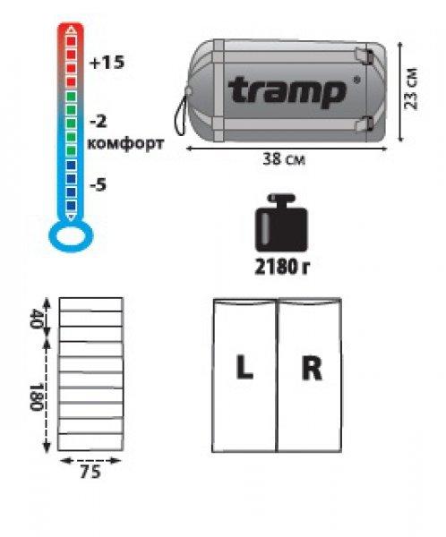 Спальный мешок Tramp NightLife, TRS-011.06