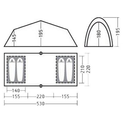 Палатка Greenell Виржиния 4 квик, коричневая (95726-230-00)