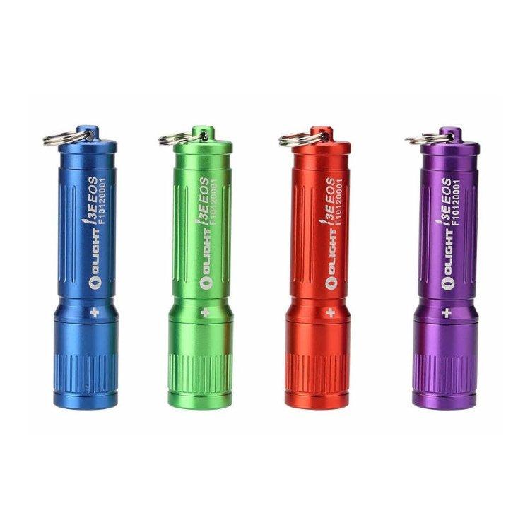 Фонарь Olight i3E eos (черный, красный, зеленый, синий, фиолетовый)