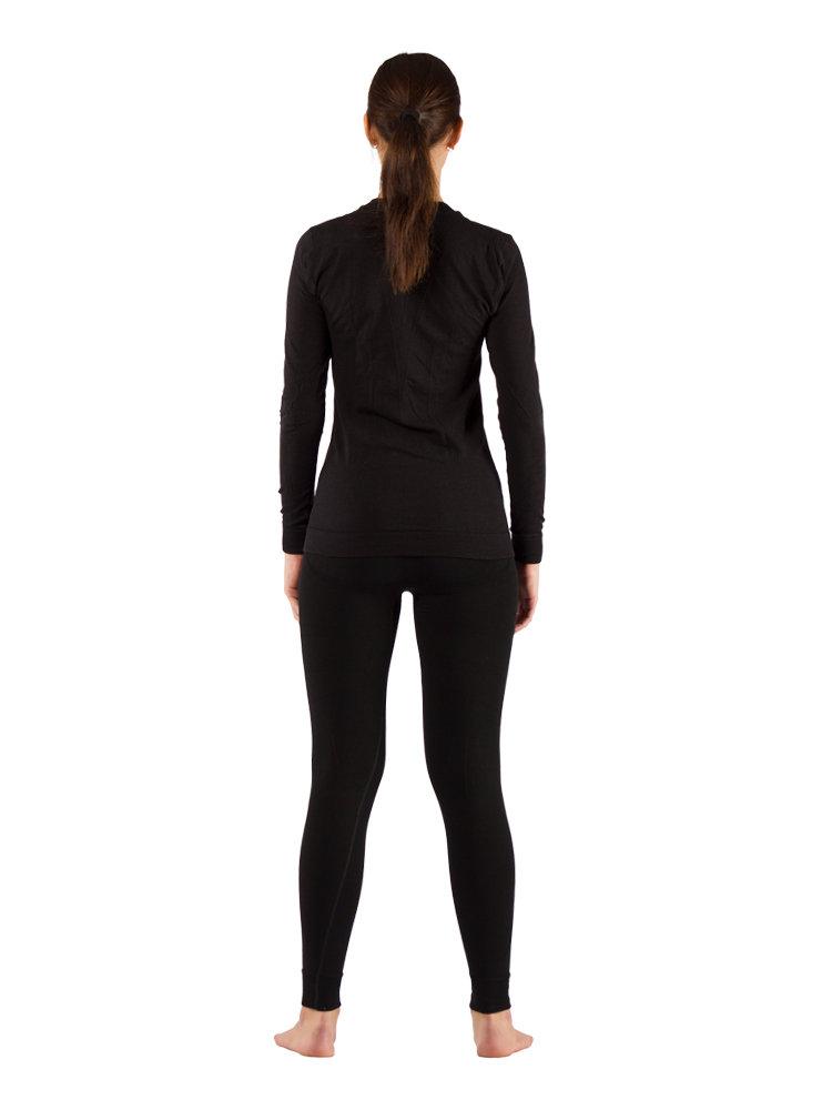 Комплект женского термобелья Lasting, черный - футболка Vali и штаны Vins