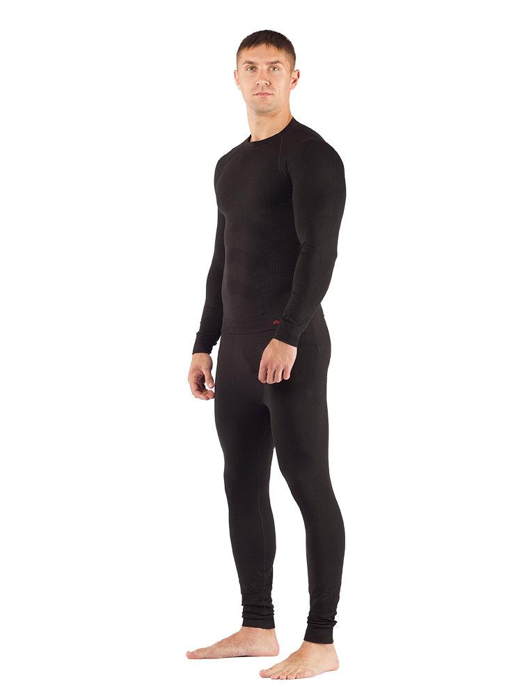 Комплект мужского термобелья Lasting, черный - футболка Apol и штаны Ateo