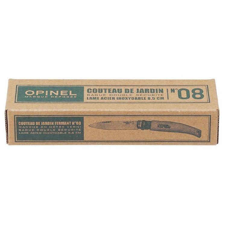 Нож Opinel №8 садовый, нержавеющая сталь, коробка