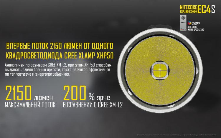 Фонарь Nitecore EC4S Cree XHP50