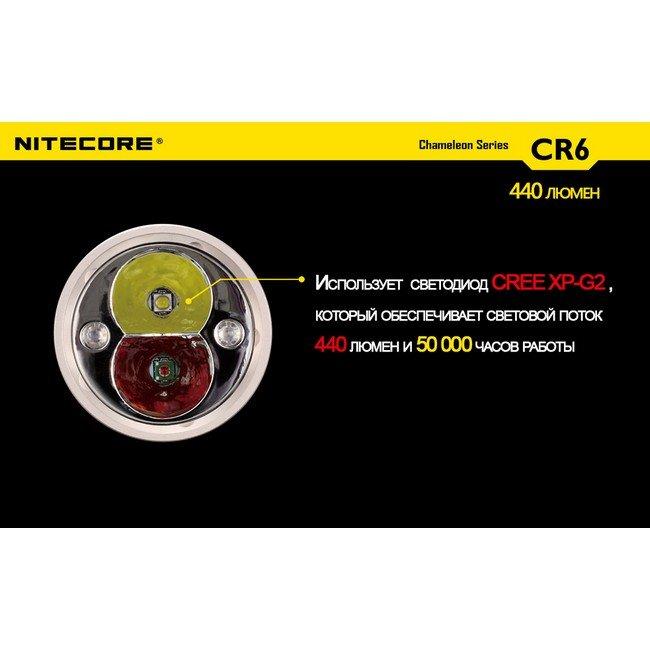 Фонарь Nitecore CR6 (белый + красный + RGB)