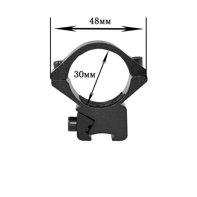 Крепление на оружие для фонаря 30 DK (планка Вивера 19 мм)