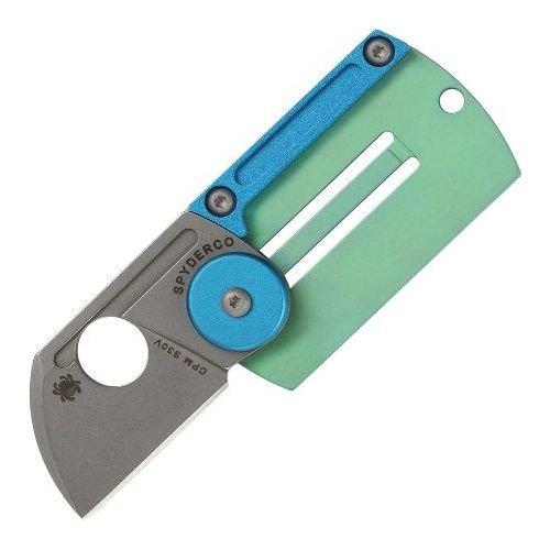 Складной нож Spyderco Dog Tag (черный, бирюзовый)