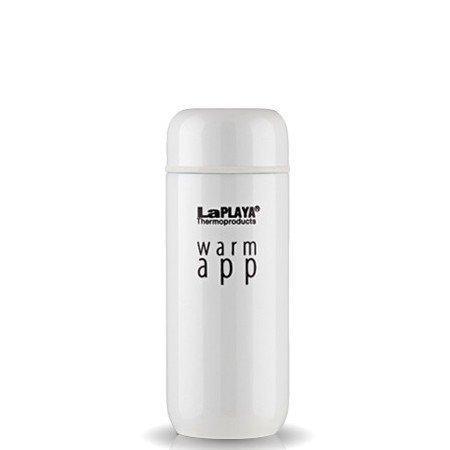 Термос LaPLAYA WarmApp, 0.2 л (белый, черный)