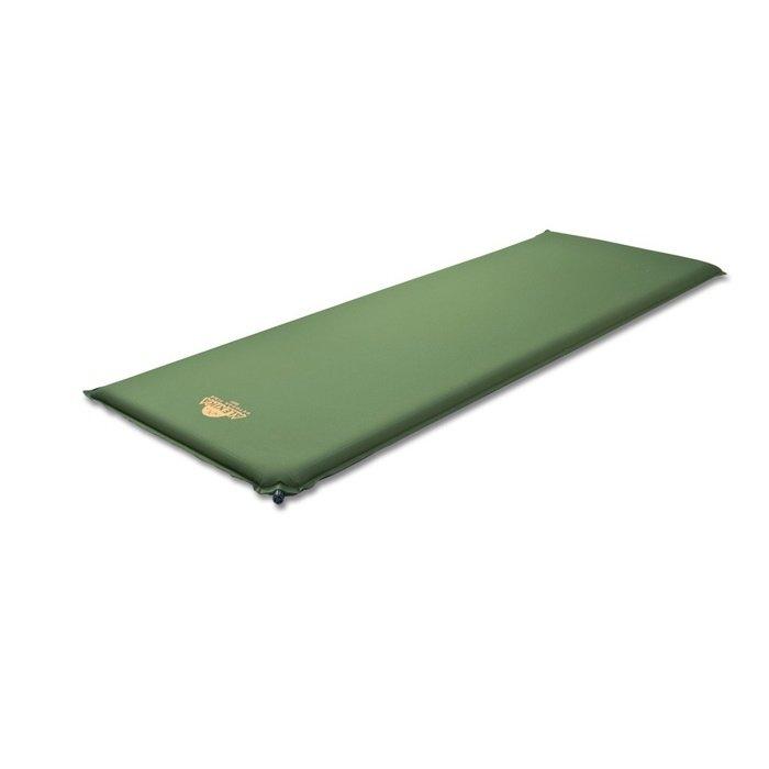 Коврик самонадувающийся Alexika Best (темно-зеленый, бордовый)