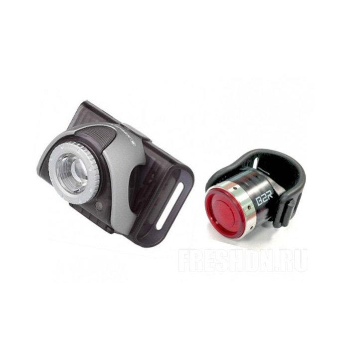 Набор велофонарей Led Lenser B5R(серый) + B2R(Красный)