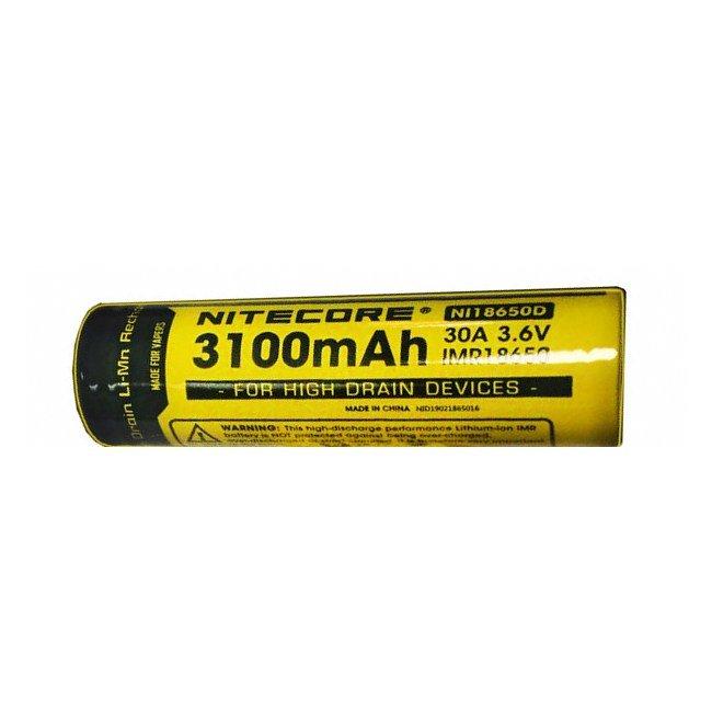 Аккумулятор Nitecore IMR NL18650D 3.7v (3100mA) 30A FLAT TOP